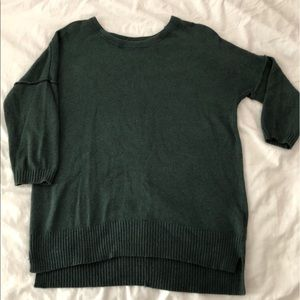H&M hunter green 3/4 sleeve pullover sweater